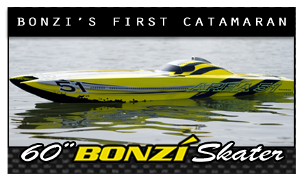 60&quot; Skater Cat - Bonzi's first catamaran, established 2010