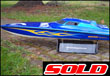 "50"" Bonzi' Blue/Orange flames - Sold!"