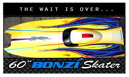 "60"" Skater Cat - Bonzi's first catamaran, established 2010"