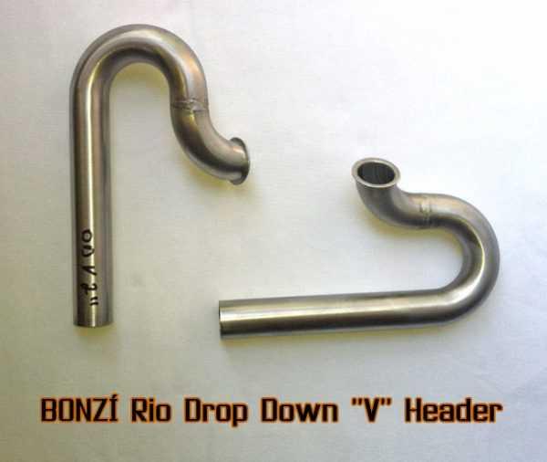 """BONZI Rio Drop Down """"V"""" Header Pipe"""
