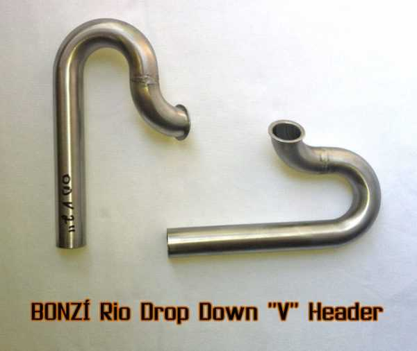 "BONZI Rio Drop Down ""V"" Header Pipe"
