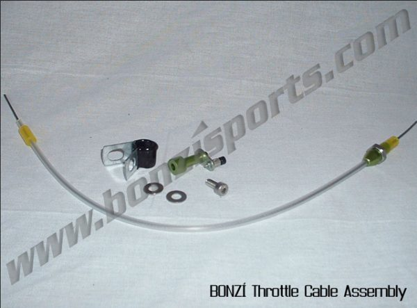 BONZI Throttle Cable Assembly (standard) - Zenoah, Walbro