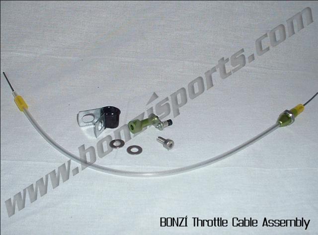 BONZI Throttle Cable Assembly (Long) - Zenoah,Walbro