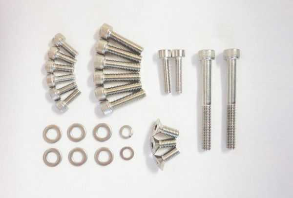 Stainless Steel Hardware Kit (fits the Zenoah G260PUM Water-Cooled Marine Engine)