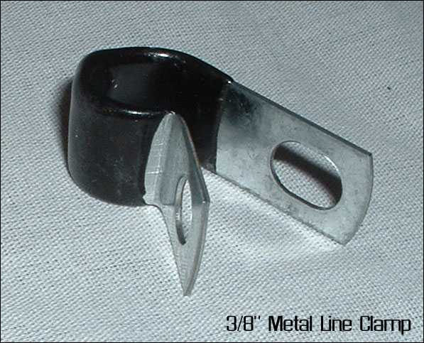 "1/4"" Metal Line Clamp"