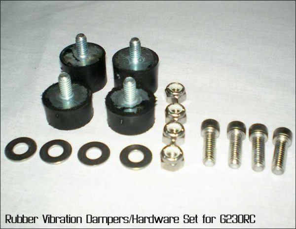 Rubber Vibration Dampers/Hardware Set - for Zenoah G230RC