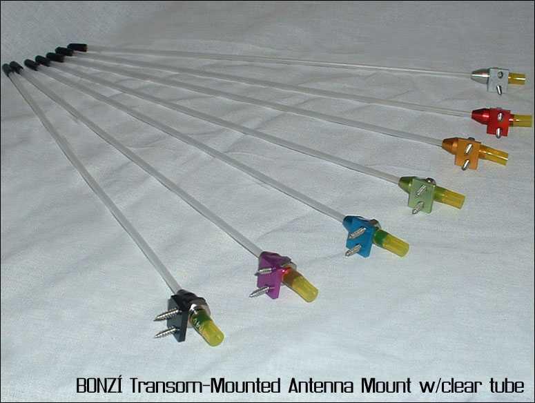 BONZI Transom-Mounted Antenna Mount - Colored Tube