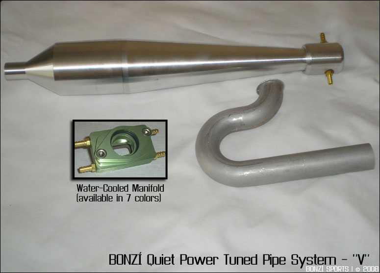 "BONZI Quiet Power Tuned Pipe System - ""V"""