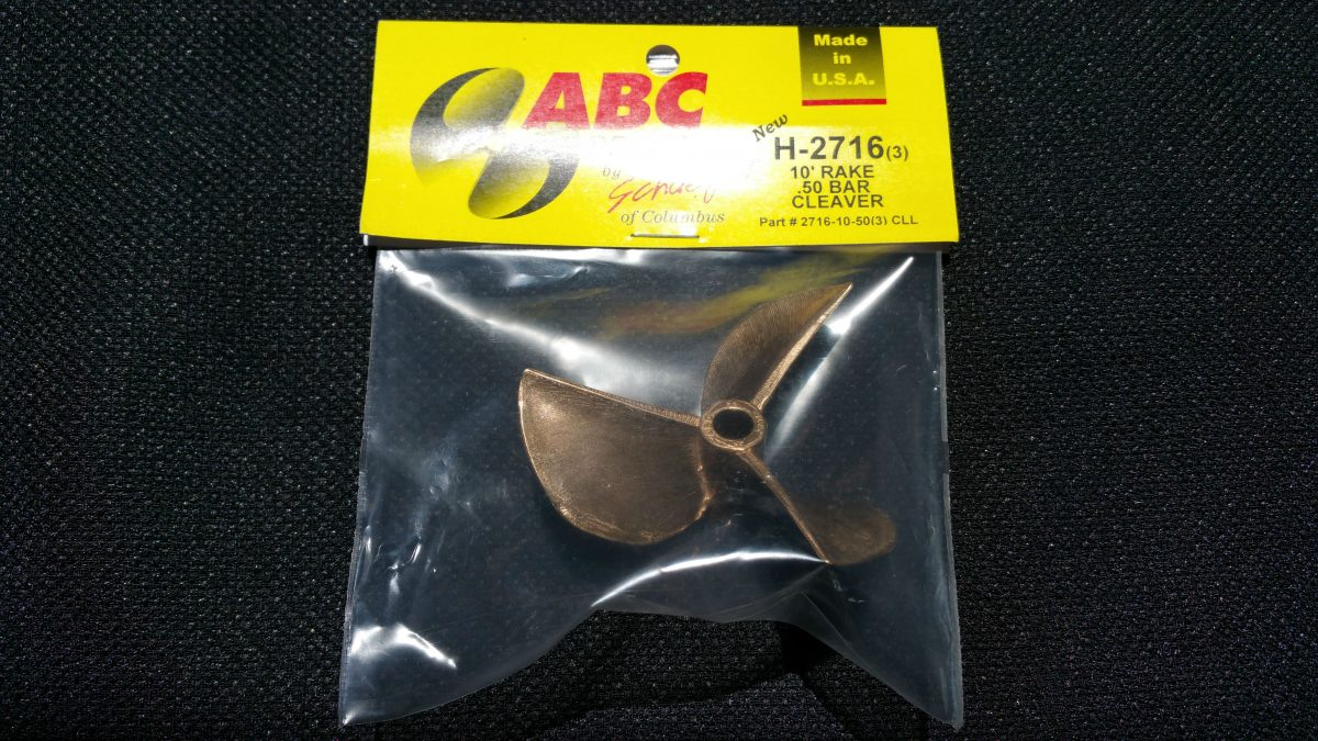 ABC H-2716/ 3-Blade Cleaver Prop (Left)