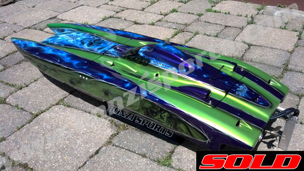 50 Thunderbolt Cat with QD25 || RC Boat